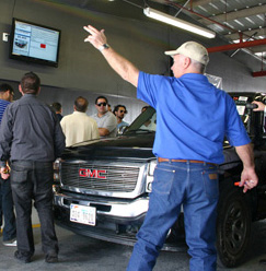 Photo of ring man at Houston Auto Auction